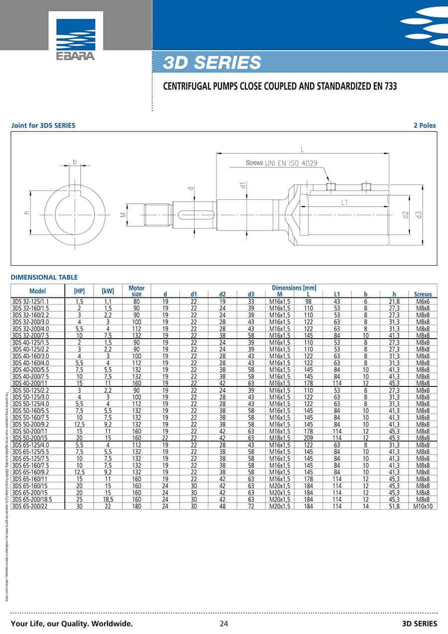 Ebara-Centrifugal-Pump 3D-سیل مکانیکی