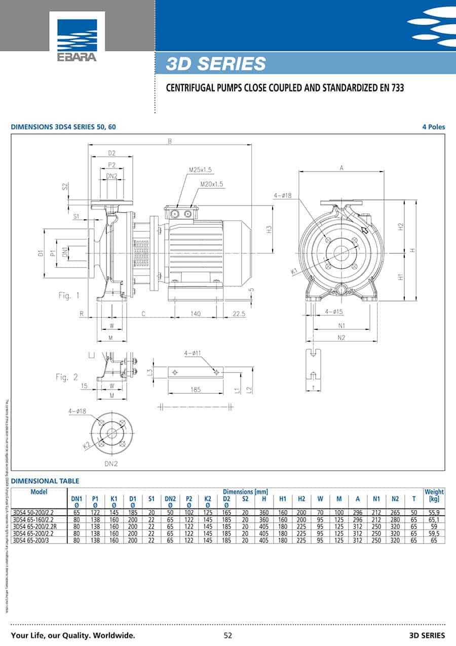 Ebara-Centrifugal-Pump 3D-3D 32-2007.5