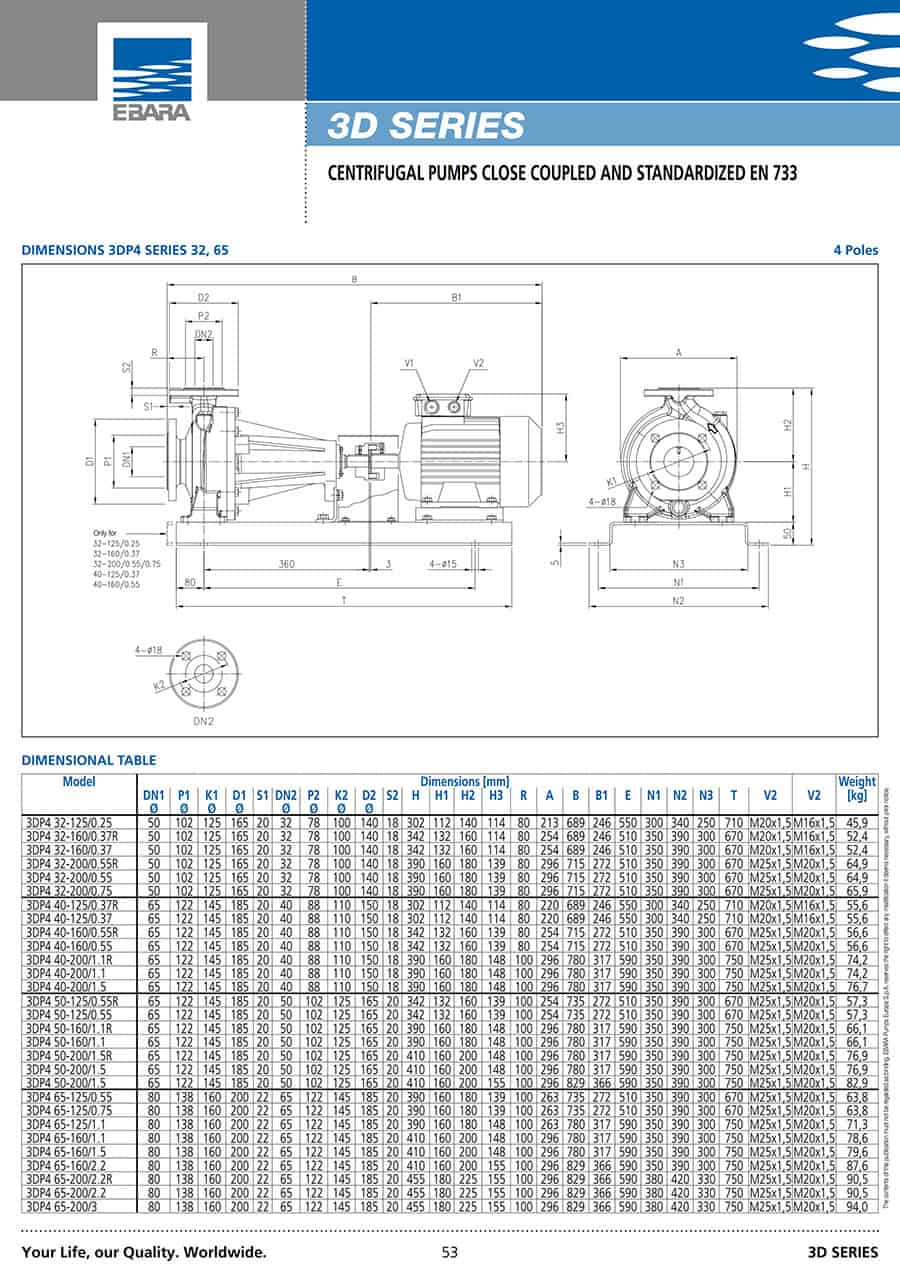 Ebara-Centrifugal-Pump 3D-3D 40-1603.0