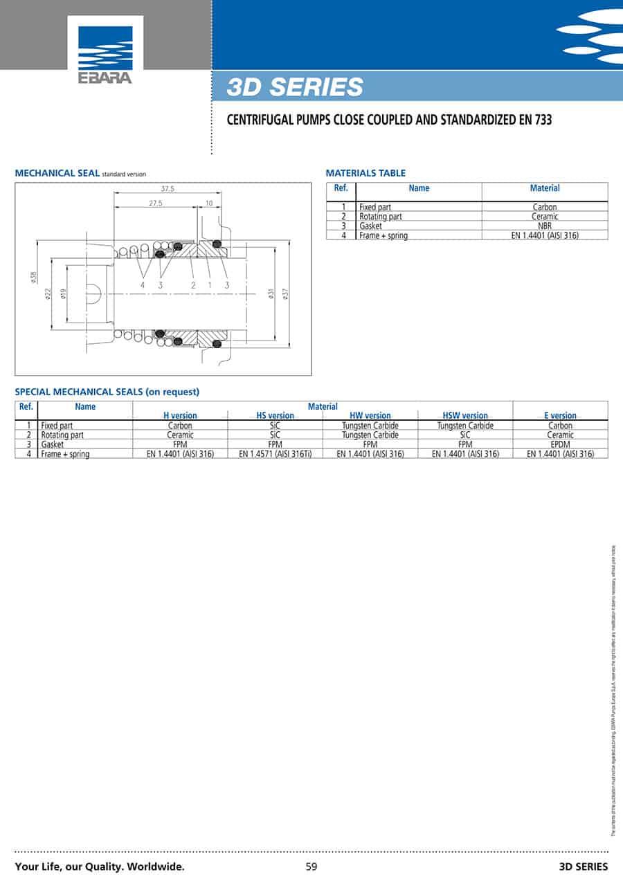 Ebara-Centrifugal-Pump 3D-3D 65-1257,5