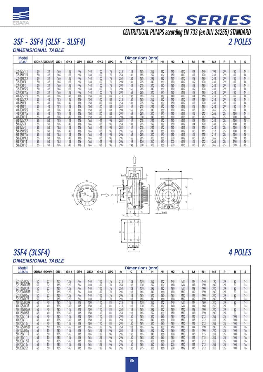 Ebara-3LSERIES 40-1600.55R