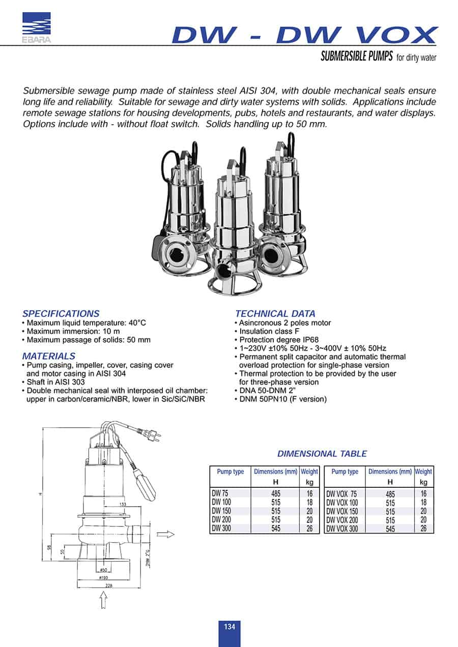 OPEN IMPELLER in aisi 304