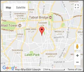 مکان شرکت روی نقشه